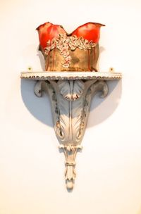 Warriors leave their marks (2) Ceramic on ornate plinth. Price: £325.00
