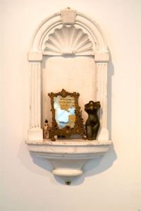 Once a goddess (2) Ceramic with found objects and reclaimed plaster niche. Price: £375.00