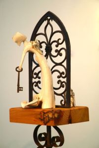 Love is a corset : xxxx Ceramic with found objects. Price: £375