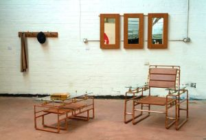 Chair and Coffee Table Salvaged/Upcycled copper pipework & valves. Commissions for bespoke pieces being taken.